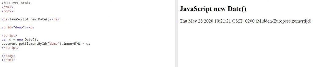 javascript voorbeeld